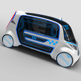 Concept design of the city universal electric vehicle. 3D illustration. Stock Images