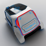 Concept design of the city universal electric vehicle. 3D illustration. Concept design of the city universal electric vehicle. Project of modern transport. 3D vector illustration