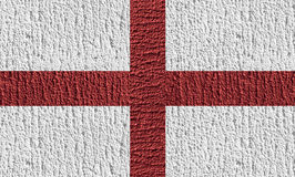 Concept design of England flag by color painting on the concrete. Concept design of England flag by color painting on the rough concrete wall stock photo