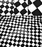 The concept design of futuristic checkerboard. Royalty Free Stock Photos