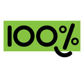 Concept Design for 100 Percent. EPS 8 supported Royalty Free Illustration