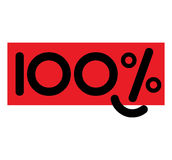 Concept Design for 100 Percent. EPS 8 supported stock illustration