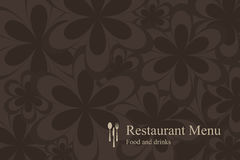 Concept design restaurant menu. On flowers background. Vector available Royalty Free Illustration