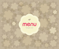 Concept design restaurant menu. On flowers background. Vector available Vector Illustration