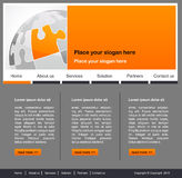 Concept and design for website page Royalty Free Stock Image