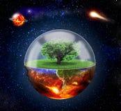 Concept of destruction. Stock Images