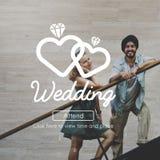 Concept deux Romance de bonheur marié par amour de mariage Photo stock