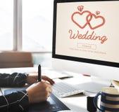 Concept deux Romance de bonheur marié par amour de mariage Photographie stock