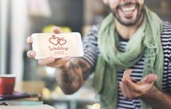 Concept deux Romance de bonheur marié par amour de mariage Photos libres de droits