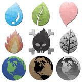 Concept dew  icon for earth environmental. Icon for earth environmental charcoal texture Royalty Free Stock Image