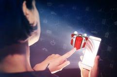 Concept die gift, keus van giften geven stock foto