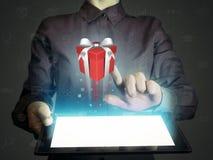 Concept die gift, keus van giften geven royalty-vrije stock afbeeldingen