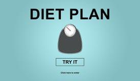 Concept dieetplan royalty-vrije illustratie