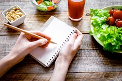 Concept diet, slimming plan with vegetables Stock Photo