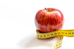 Concept diet and weight loss on white background Stock Images