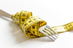 Concept diet and weight loss on white background Stock Photography