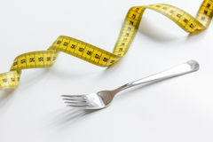 Concept diet and weight loss on white background top view Stock Photo