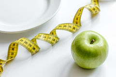 Concept diet and weight loss on white background top view Royalty Free Stock Image