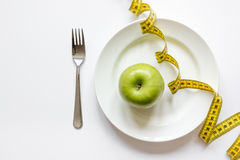 Concept diet and weight loss on white background top view Stock Photography