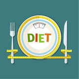 Concept for dieting Stock Photography
