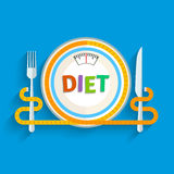 Concept for dieting Royalty Free Stock Photography