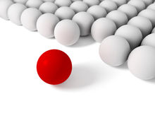Concept of difference. 3d image of concept of difference with balls Royalty Free Stock Image