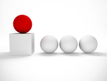 Concept of difference. 3d image of concept of difference with balls Royalty Free Stock Photography