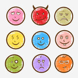 Concept of different emotions. Royalty Free Stock Photography