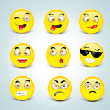 Concept of different emotions. Royalty Free Stock Image