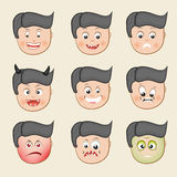 Concept of different expression. Stock Image