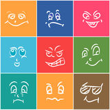 Concept of different expressions. Royalty Free Stock Image