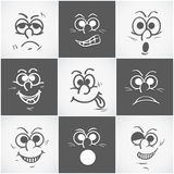 Concept of different facial expressions. Royalty Free Stock Images