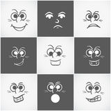 Concept of different facial expressions. Royalty Free Stock Photos