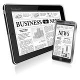 Concept - Digitaal Nieuws. PC van de tablet met Nieuws vector illustratie