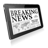 Concept - Digital Breaking News Stock Photo