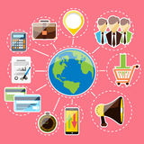 Concept for digital marketing and finance Stock Image