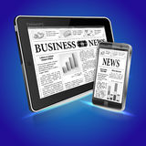 Concept - Digital News Stock Image