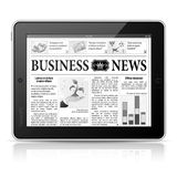 Concept - Digital News. Tablet PC with News Stock Photo