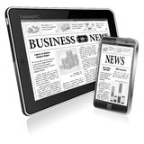 Concept - Digital News. Tablet PC with News Royalty Free Stock Photo