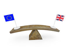 Concept of diplomatic relationship between European Union and Great Britain Stock Photography