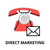 Concept of direct marketing and goods sale strategy. Modern flat thin line design vector illustration, concept of direct marketing and goods sale strategy, for Royalty Free Stock Photo