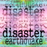 Concept disaster earthquake Stock Photos