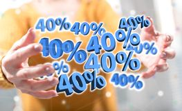 Concept of 40 % discount stock images