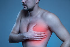 Concept disease. Heart problem. Royalty Free Stock Images