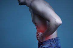 Concept disease. Pain in stomach. Concept disease. Pain in the stomach Stock Image