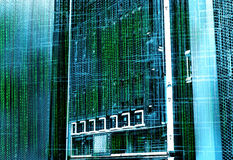 Concept of disk storage data center. Information technology and database on technological background. Concept of disk storage data center. Information technology Stock Photos