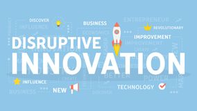 Concept disruptif d'innovation illustration stock