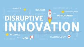 Concept disruptif d'innovation Photo stock
