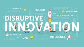 Concept disruptif d'innovation Image stock