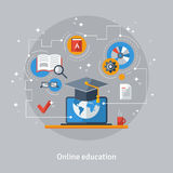 Concept for Distance Education and Online Learning Stock Photo